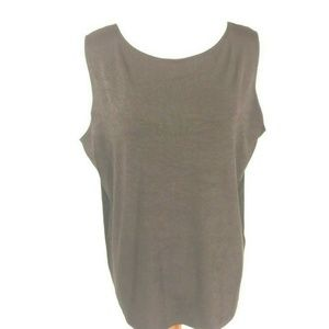Travelers by Chico's Dark Brown Tank Top Sz 3